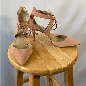 Ann Taylor Light Pink Leather Heels